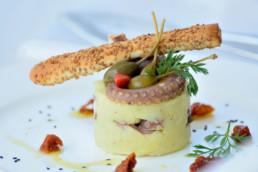 purè polipo olive e grissino - villa la fenice